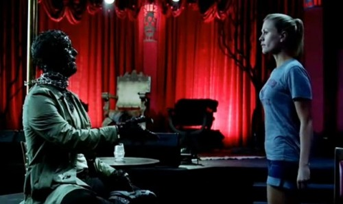 Russell Edgington (Denis O'Hare) and 'Sookie' (Anna Paquin) in True Blood